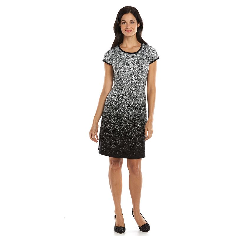 Suite 7 Speckled Fit & Flare Sweaterdress - Women's