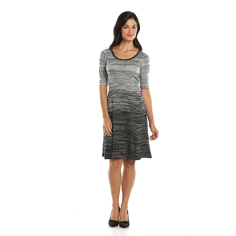 Suite 7 Marled Fit & Flare Sweaterdress - Women's