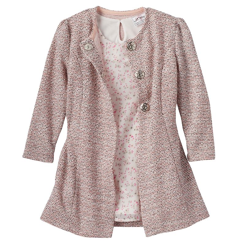 Toddler Girl Knitworks Dress & Coat Set