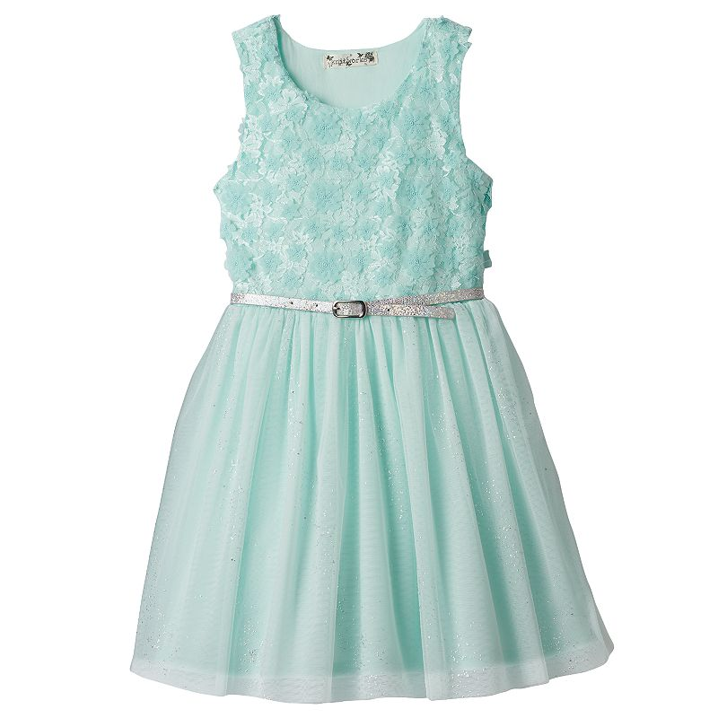 Toddler Girl Beautees Floral Lace Skater Dress