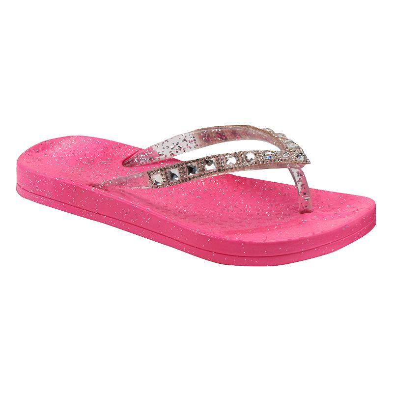 Girls Glitter Molded Flip-Flops