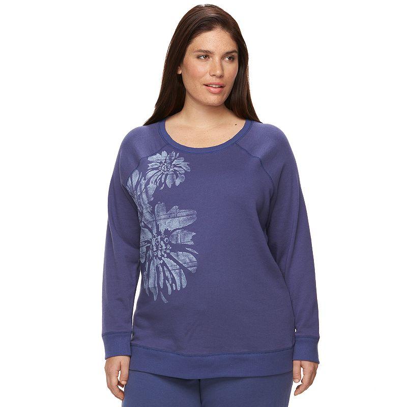 Plus Size SONOMA Goods for Life™ Pajamas: French Terry Lounge Sweatshirt
