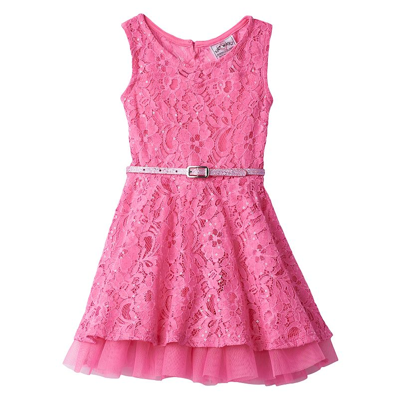 Toddler Girl Knitworks Lace Sequin Dress