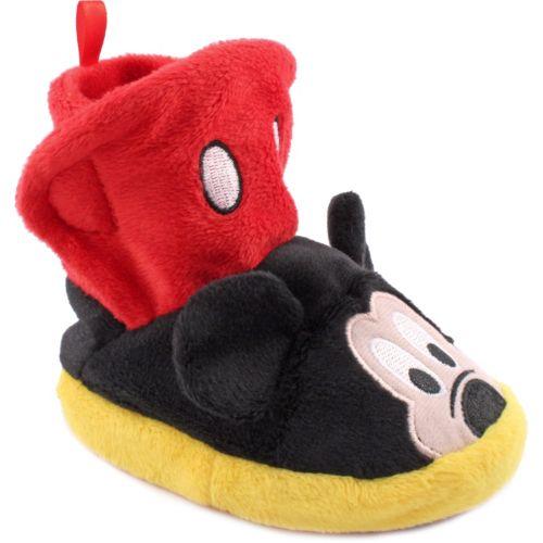 Disney Mickey Mouse Kids' Plush Slipper Booties