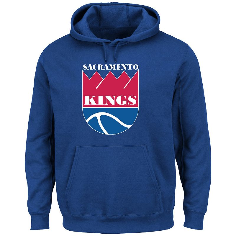 Men's Majestic Sacramento Kings Hardwood Classics Tek Patch Hoodie