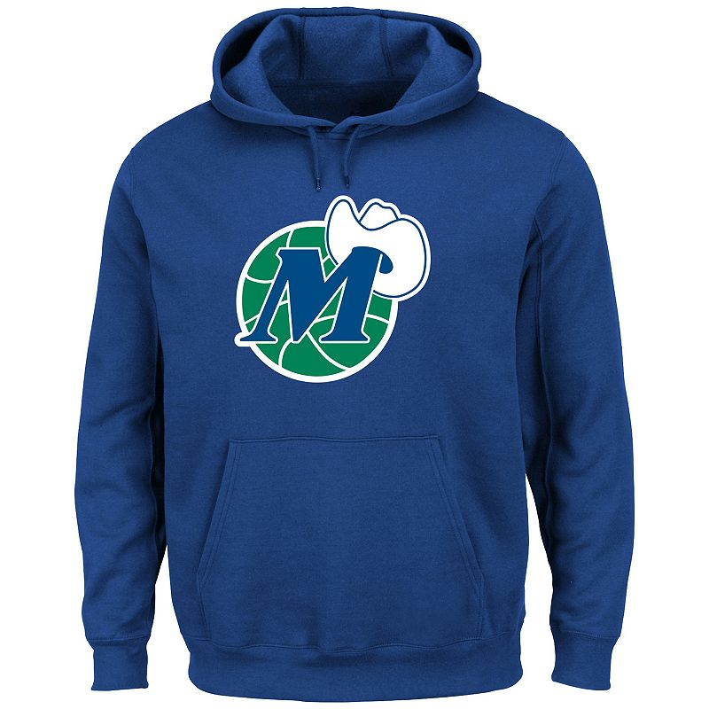 Men's Majestic Dallas Mavericks Hardwood Classics Tek Patch Hoodie