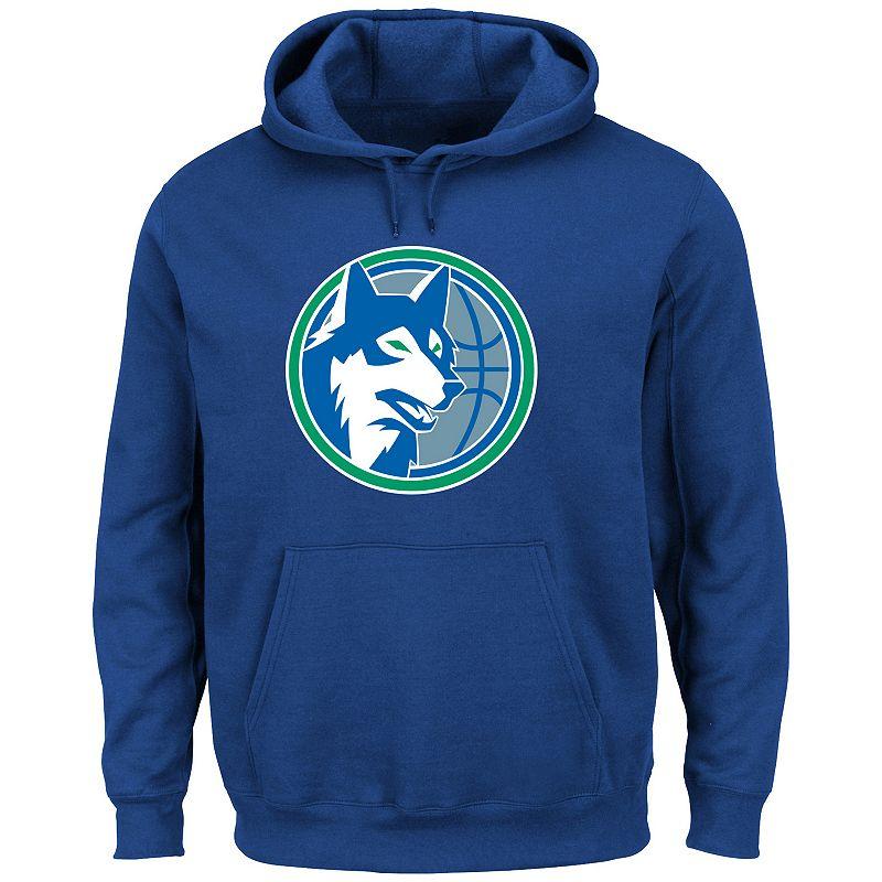 Men's Majestic Minnesota Timberwolves Tek Patch Hoodie