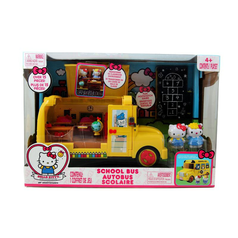 Hello Kitty School Bus Set, Multicolor