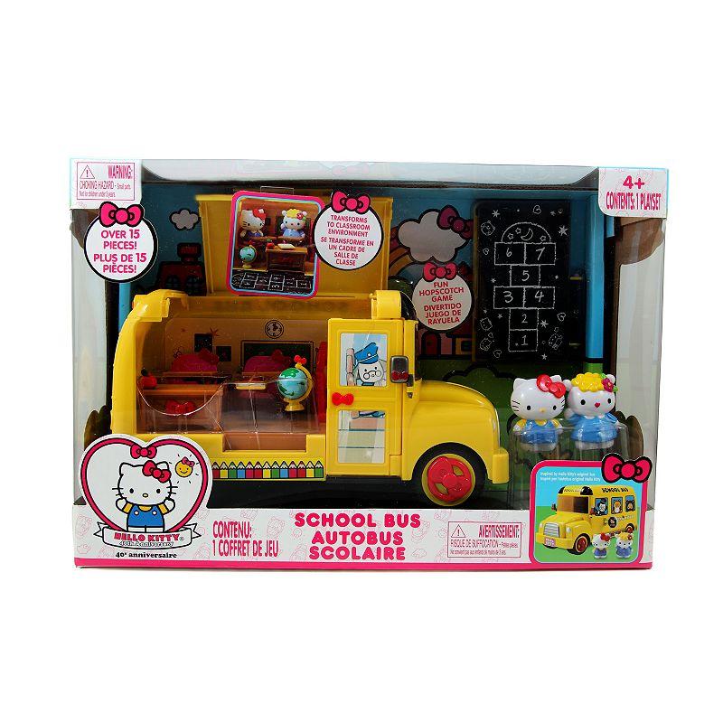 Hello Kitty School Bus Set, Multicolor