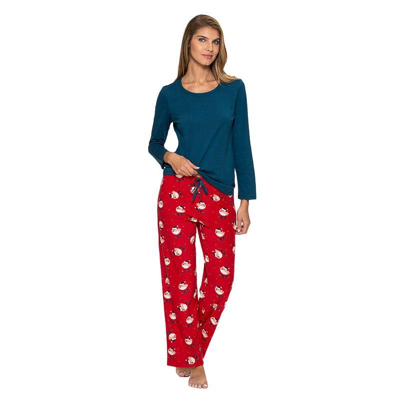 Women's Jockey Pajamas: Knit Top & Microfleece Pants Pajama Set