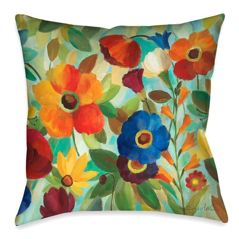 Laural Home Summer Floral I Throw Pillow
