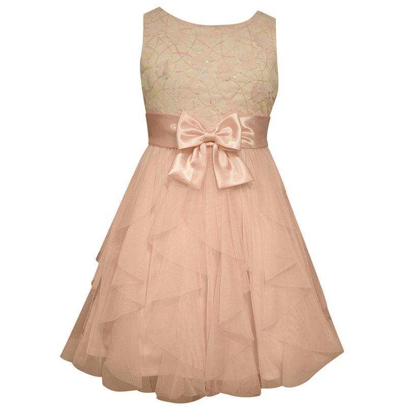 Girls 7-16 Bonnie Jean Cascading Mesh Dress