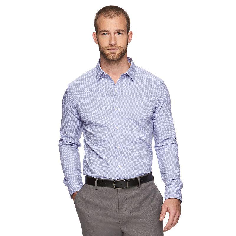 Men's Marc Anthony Slim-Fit Geometric Stretch Button-Down Shirt
