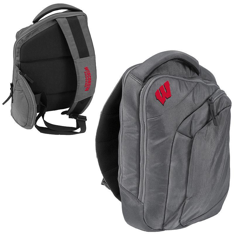 Logo Brand Wisconsin Badgers Game Changer Sling Backpack