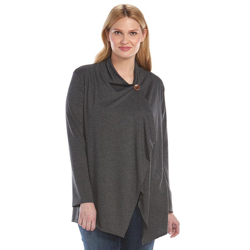 Plus Size Loramendi One-Button Cardigan