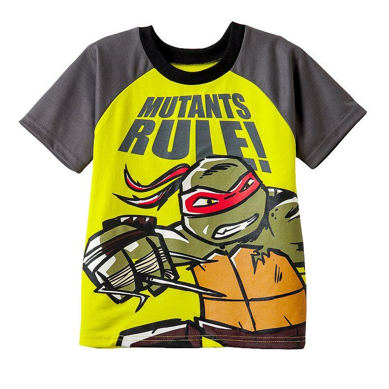 Boys 4-7 Teenage Mutant Ninja Turtles Raphael Raglan Tee