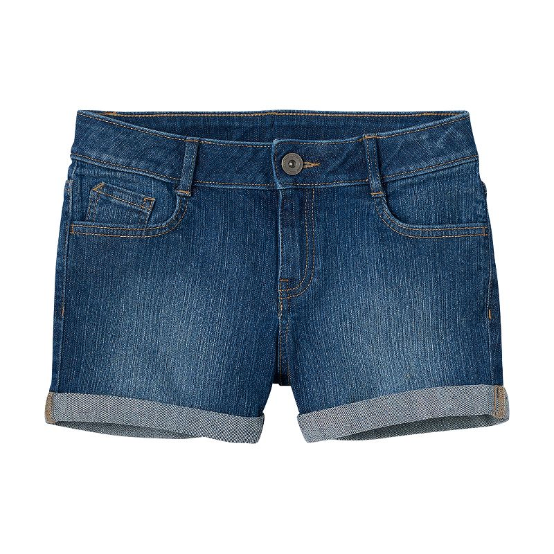 Girls 7-16 & Plus Size SO® Roll Cuff Denim Shorts