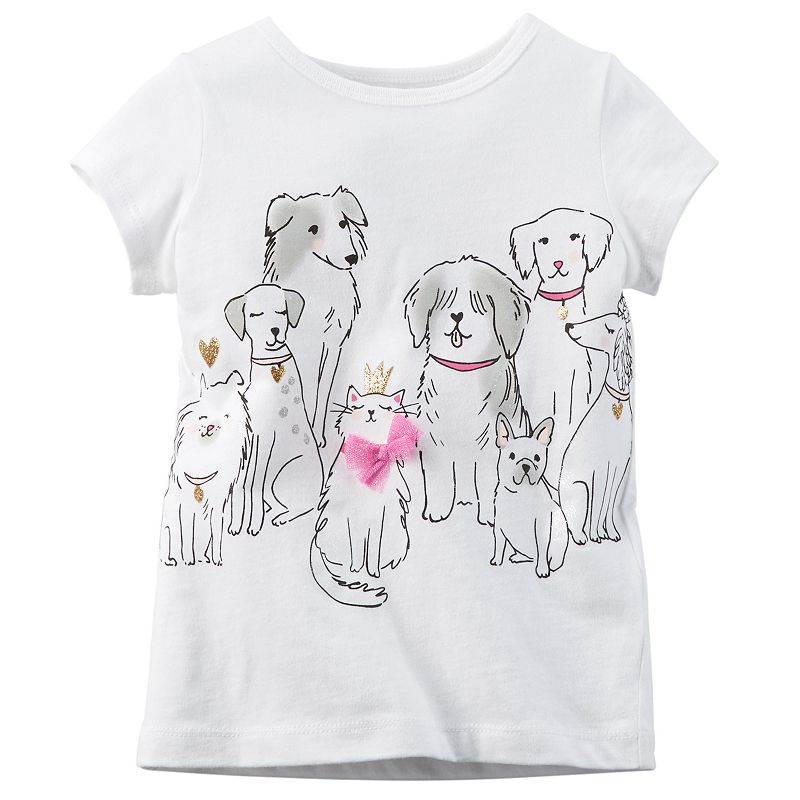 Toddler Girl Carter's Cat & Dogs Jersey Tee