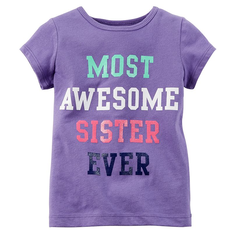 Toddler Girl Carter's ''Most Awesome Sister Ever'' Tee