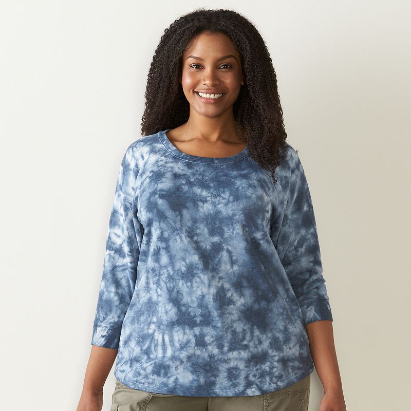 Plus Size SONOMA Goods for Life™ Fleece Crewneck Top