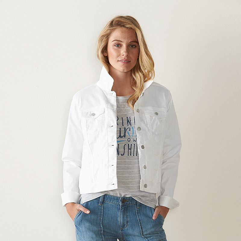 Women's SONOMA Goods for Life™ White Jean Jacket
