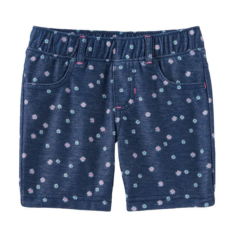 Girls 4-7 Jumping Beans® Daisy Faux-Denim Shorts