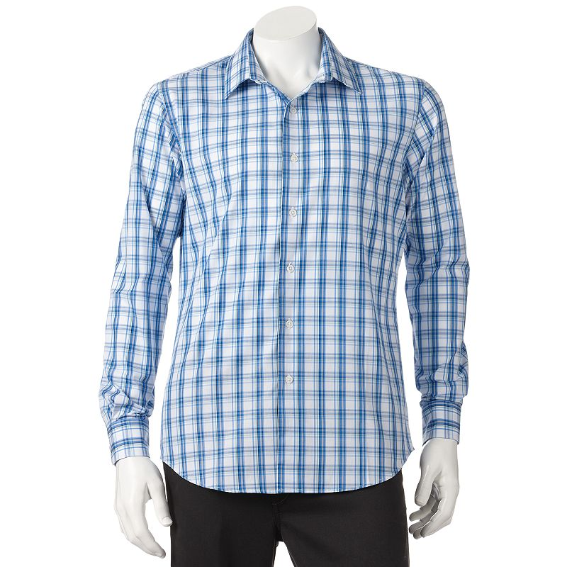 Apt 9 modern fit textured casual button down shirt big for Tall button down shirts