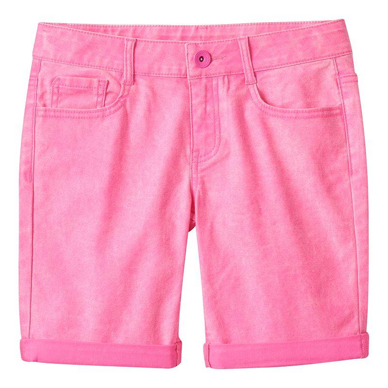 Girls 7-16 & Plus Size SO® Cuffed Twill Bermuda Shorts