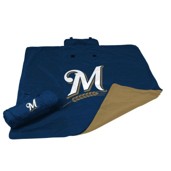 Logo Brand Milwaukee Brewers All-Weather Blanket