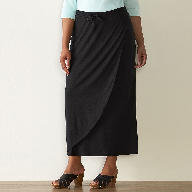 Plus Size SONOMA Goods for Life™ Faux-Wrap Maxi Skirt