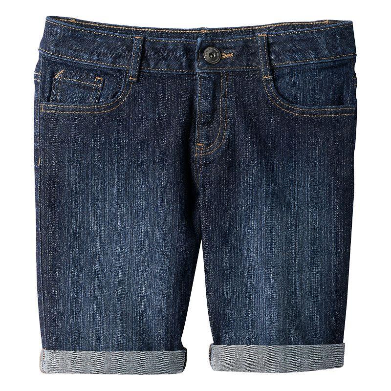 Girls 7-16 & Plus Size SO® Cuffed Denim Bermuda Shorts