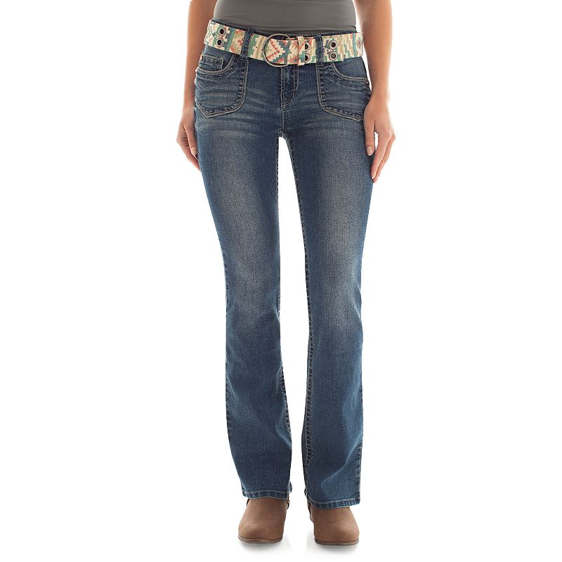 Juniors' Pork Chop Pocket Wallflower Bootcut Jeans