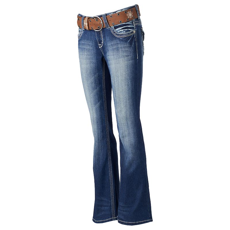 Juniors' Wallflower Curvy Bootcut Jeans