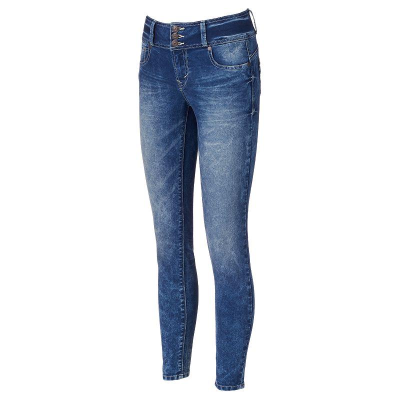 Juniors' Wallflower Sweetheart Push-Up Skinny Jeans