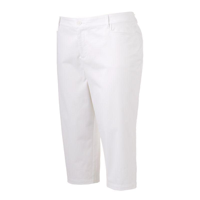 Plus Size Croft & Barrow® Classic Fit Twill Capris
