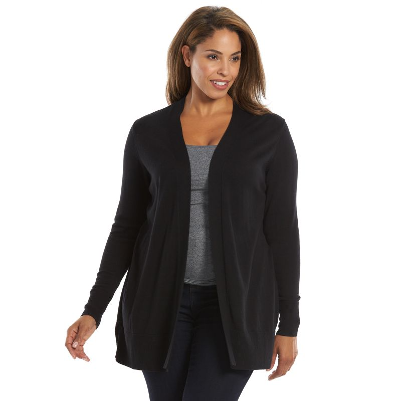 Plus Size Croft & Barrow® Essentials Cardigan, Women's, Size: 2XL, Black