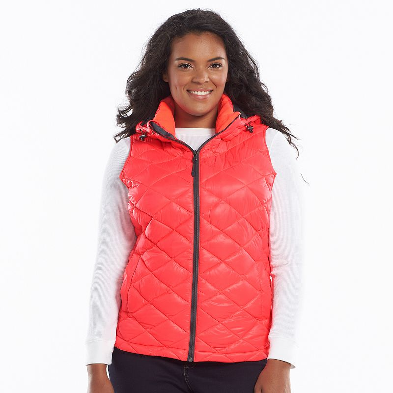 Plus Size Tek Gear® Hooded Packable Quilted Puffer Vest