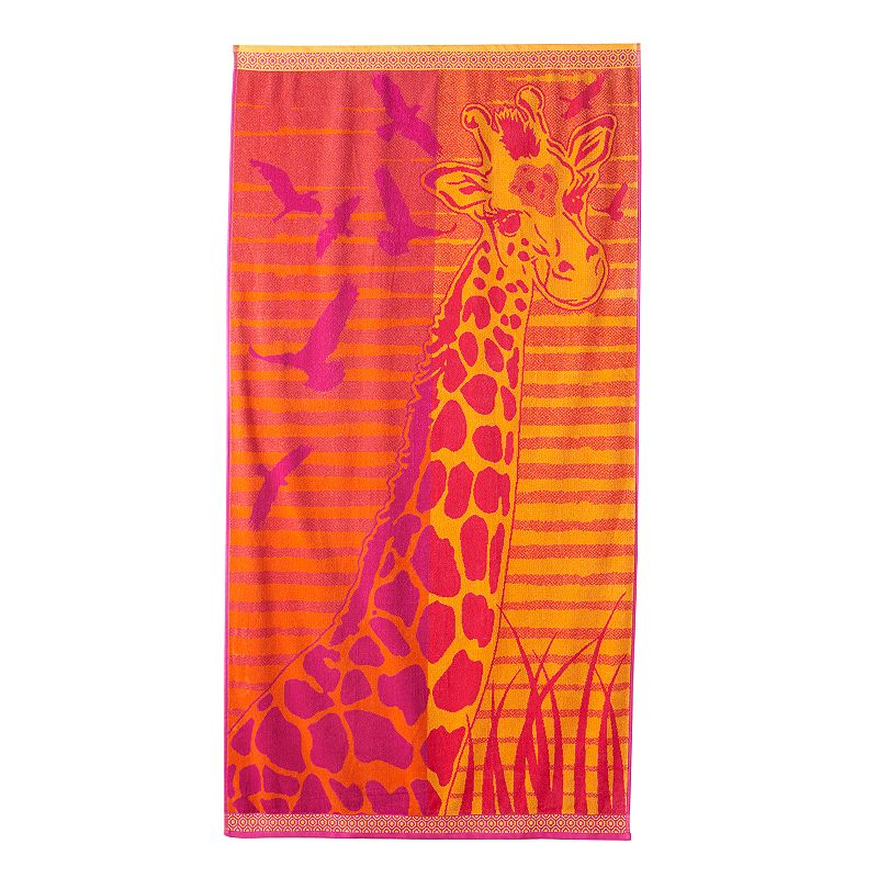 Celebrate Summer Together Giraffe Beach Towel