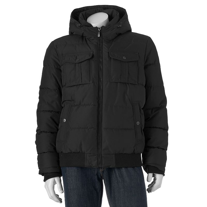 Men's Dockers Hooded Bomber Jacket