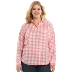 Plus Size SONOMA Goods for Life™ Essential Woven Shirt