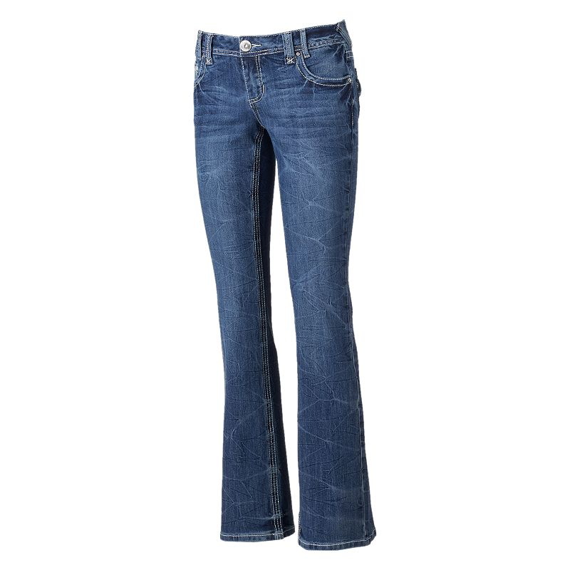 Juniors' Amethyst Marble Wash Jeans