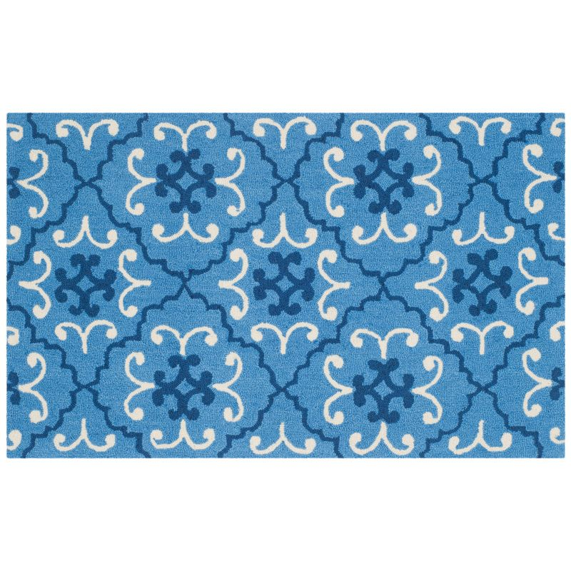 SAFAVIEH FOUR SEASONS MOROCCAN MEDALLION INDOOR OUTDOOR RUG