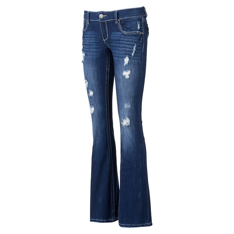 Juniors' Amethyst Flare Jeans
