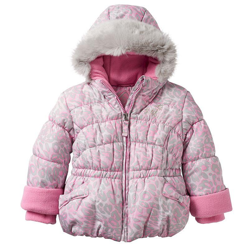Baby Girl ZeroXposur Cheetah Puffer Jacket