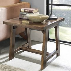 Simpli Home Sawhorse End Table by