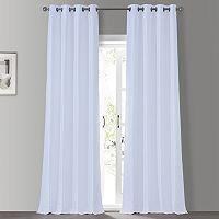 EFF Grommet Blackout Vintage Textured Faux Silk Duponi Curtain