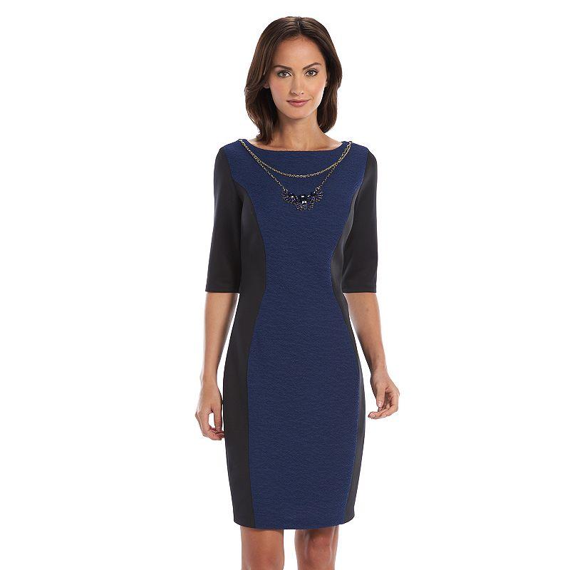 Chaya Colorblock Sheath Dress - Women's