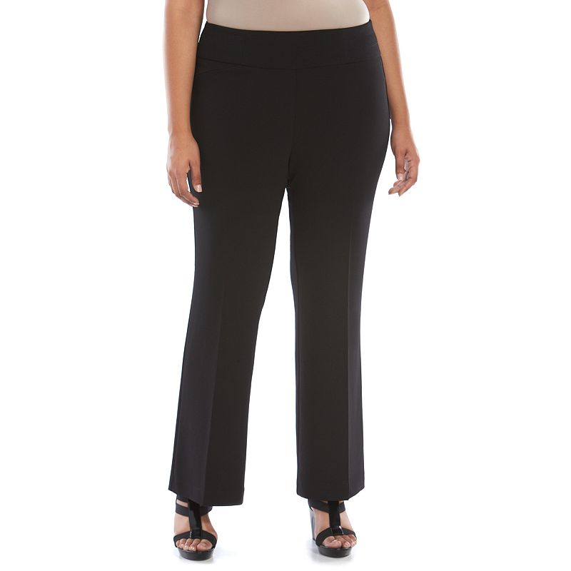 Plus Size Dana Buchman Straight Leg Pants