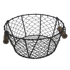Click here to buy SONOMA Goods for Life Handle Chicken Wire Decorative Bowl.