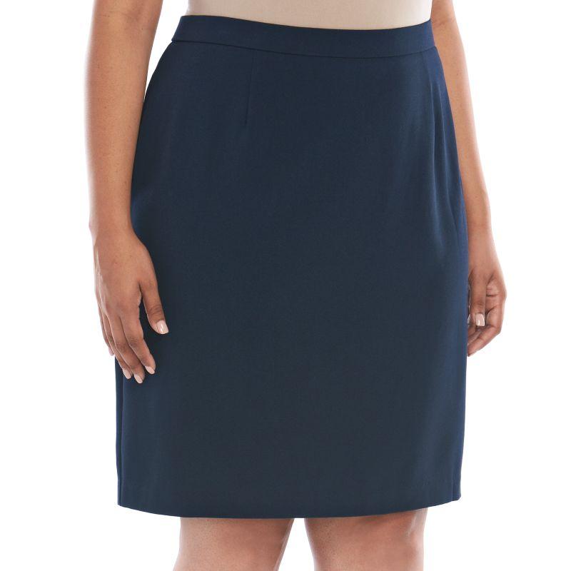 plus size buchman pencil skirt